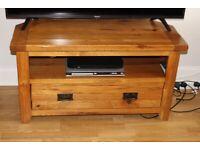 Rustic oak TV unit