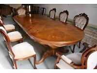 Italian table 8 chairs