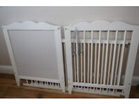 ikea hensvik cot bed with mattress and bed guard
