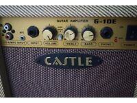 20 Watt guitar practice amp - Castle G-10e (with additional CD/MP3/RCA audio input)