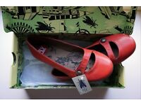 BRAND NEW: Cute red leather womens shoes from Fly