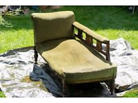 Edwardian Chaise-longue need of TLC