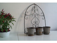 Metal plant pot holders (2 available)