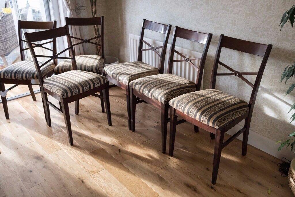 6 x Mahogany Dining Room Chairs