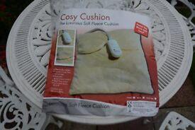 Soft fleece electric heated cushion