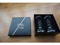 Star by Julien Macdonald – set of 2, hand cut glass dinner candle holders, homeware