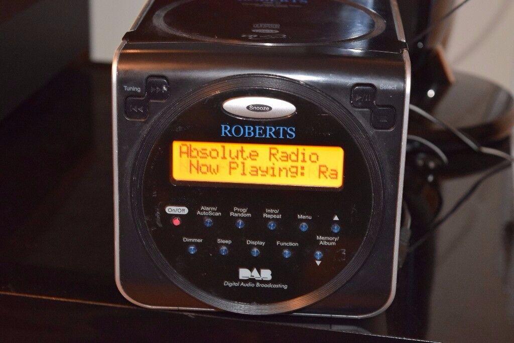 ROBERTSMINI DAB RADIO/CD/ALARM CLOCK/DABANTENNA CANBE SEEN WORKING