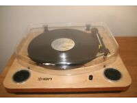 ION Max LP Conversion Turntable with Speakers