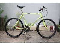 Peugeot Classic MTB Fluoro Yellow Retro Gully Working Shimano Mountain Bike Bicycle Push Bike