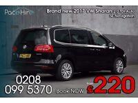 VW Sharan, 7 seat, PCO car hire, PCO rental, PCO hire, PCO car rental, Uber ready cars, PCO, Uber