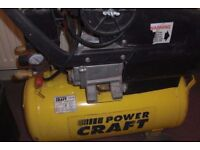 Power Craft 24ltr Compressor with tools and accessories REDUCED TO SELL)