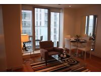 Lovely 1 bedroom apartment in famous Pan Peninsula E14 South Quay Canary wharf + Pool Gym Balcony JS