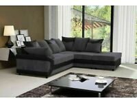 CHOICE OF COLORS - DINO JUMBO CORD FABRIC CORNER OR 3+2 SOFA SET -CONTACT US FOR DELIVERY