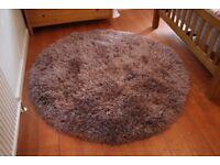 Round Mauve Carpet @ 165cm