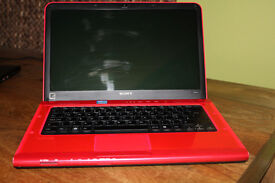 sony vaio i5 laptop in Red