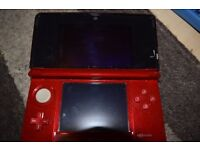 Nintendo 3DS Metallic Red with sleeve