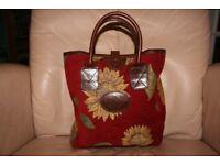 Liz Cox small tapestry handbag