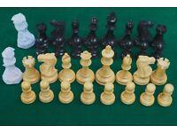 """Chess set new pieces stounton 3.75"""" king box wood/acacia or black"""