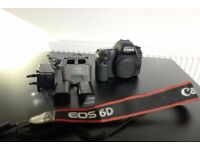 Canon 6D body - Fantastic condition + extra battery + strap
