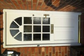 WHITE HARDWOOD FRONT DOOR PLUS FITTINGS