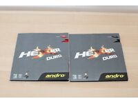 Andro - Hexer Duro table tennis rubber - BLACK - 1.9mm - New