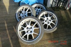 BBS rims 4 stud 73 /17 x 4 tyres