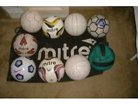 Size 5 balls & carry bag