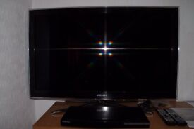 Samsung 40 inch full HD lcd television and bluray player.