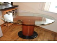 Large glass dinning table