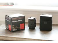 Sigma 10-20 Lens, Canon EF-S Fit