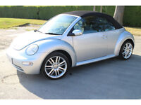 VW BEETLE CONVERTIBLE CABRIOLET LTD EDITION 1.6 5 SPEED 1 YR MOT 64,000miles GREAT CONDITION £2550