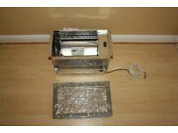 Under floor fan heater for central heating