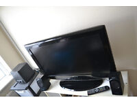 32 inch TV and sound system