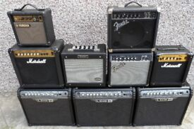 AMPLIFIER MAY SWAP WITH GUITAR OR GUITARS, OR GUITAR HARD CASES.
