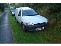 ford van escort 55d runner on sorn spares/repairs plate n974 won