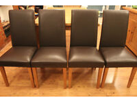 4 Dining Room Chairs, Dark Brown - Excellent Condition