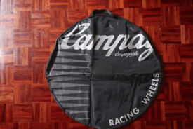 Campagnolo 700c wheel bags with skewer pocket x 2 - different designs - New & unused £10 each