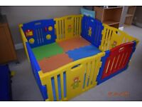 MCC playpen in excellent condition with foam mats