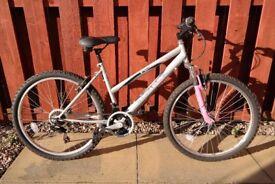 Women's bike, 17 inch frame, front suspension, 12 speed.