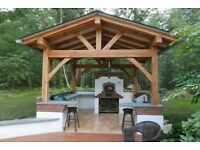 Real wood garden furniture,pergola,decking