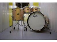 GRETSCH USA Custom 4 Pce Champagne Sparkle drum kit