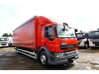 2010 DAF LF 55.220 4X2 EURO 5 CURTAIN SIDER LEZ COMPLIANT WITH TAIL LIFT BOX SCANIA BOX TIPPER