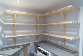 Slatted Shelves - made to measure - airing cupboard, laundry