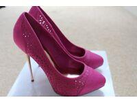 Designer shoes, heels, size 5 FAITH shoes stilleto