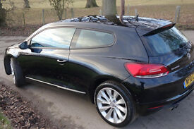 Volkswagen Scirocco 2.0TDI CR GT 3DR, 2010, in black,FSH, Elec heated seats, tel system,4 new tyres