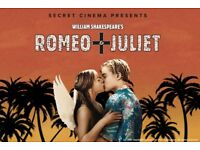 2x Secret Cinema Tickets - Romeo and Juliet - Friday 24th August - SOLD OUT