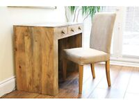 DRESSING TABLE/DESK IN MANGO WOOD WITH CHAIR