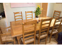 Barker & Stonehouse 'Flagstone' Table and 8 chairs with matching side board