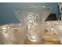 **SOLD**Punch bowl and twelve glasses