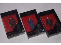 "3 x Star Wars Ep7 The Black Series 3.75"" figures LUKE SKYWALKER / HAN SOLO / PRINCESS LEIA - NEW"